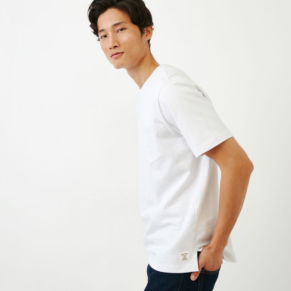 Roots-Men Our Favourite New Arrivals-10oz Pocket T-shirt-White-C