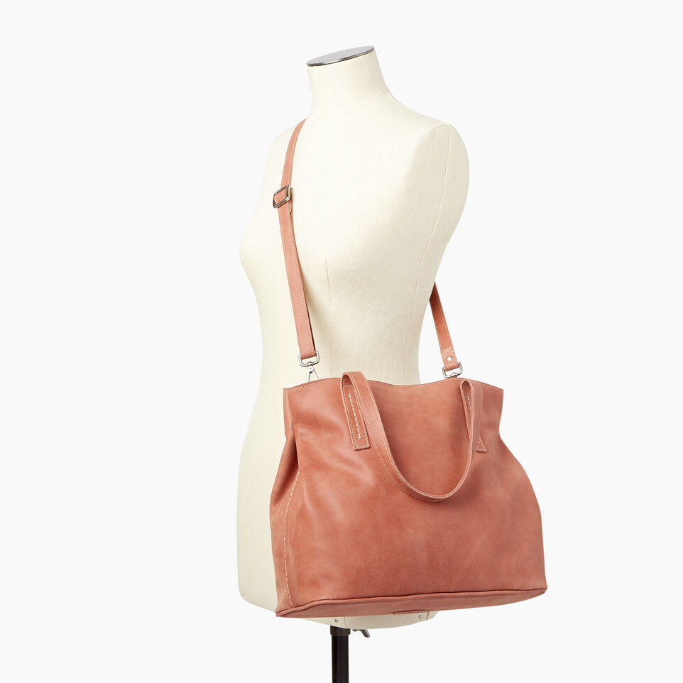 Roots-Leather Our Favourite New Arrivals-Amelia Tote-Canyon Rose-B