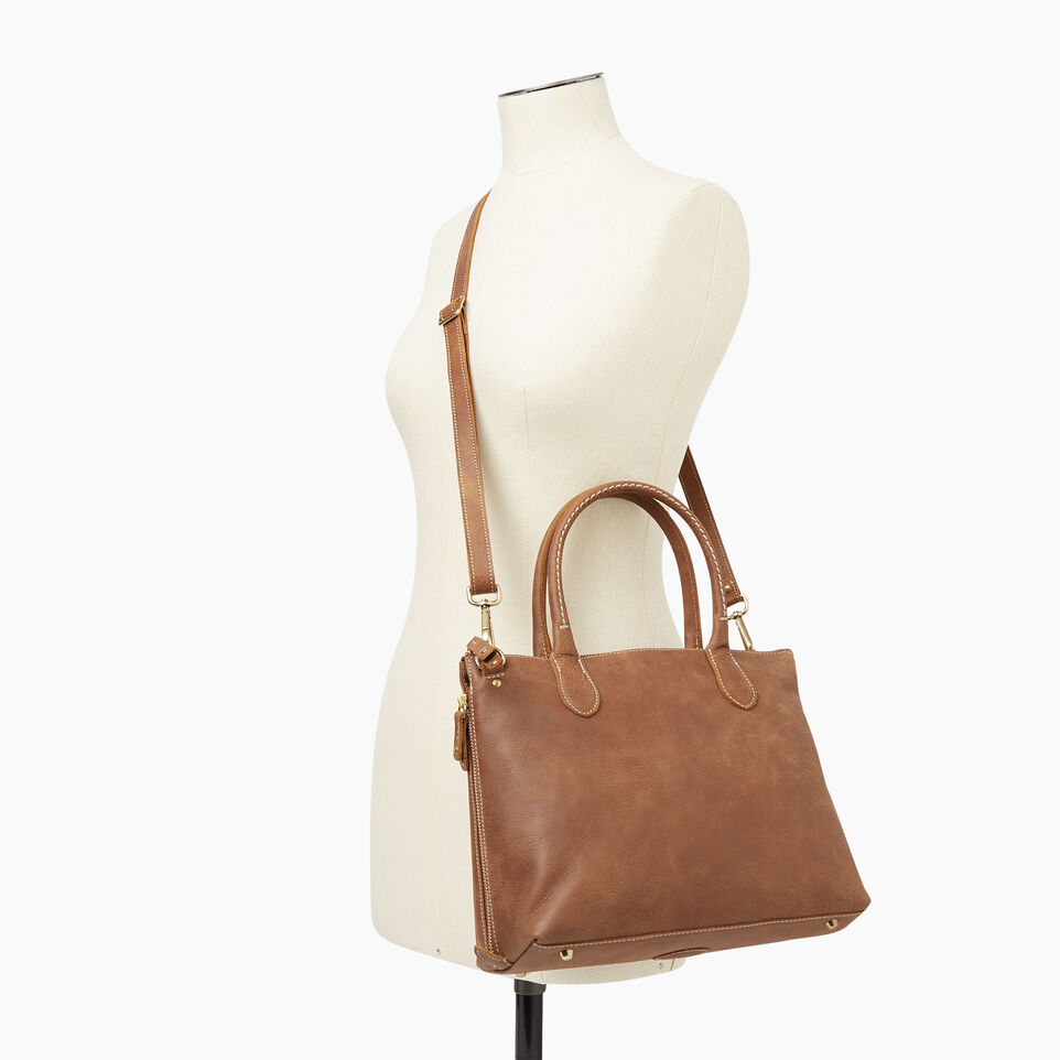 Roots-Leather New Arrivals-Arianna Bag Tribe-Natural-B