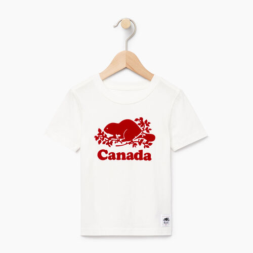 Roots-Kids T-shirts-Toddler Canada T-shirt-Ivory-A