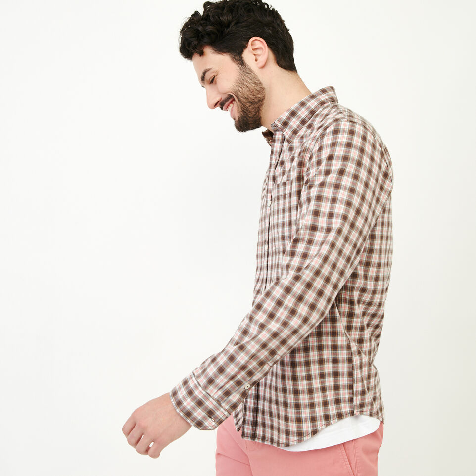 Roots-Men Our Favourite New Arrivals-Windermere Long Sleeve Shirt-Sunset Apricot-C