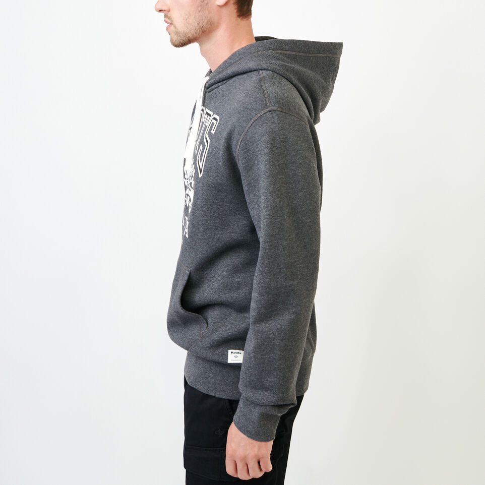 Roots-Men Our Favourite New Arrivals-Classic Kanga Hoody-Charcoal Mix-C