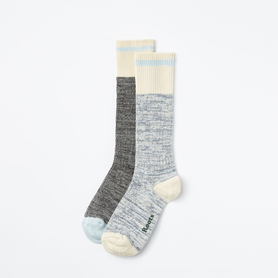 Roots-undefined-Cotton Cabin Sock 2 Pack-undefined-A