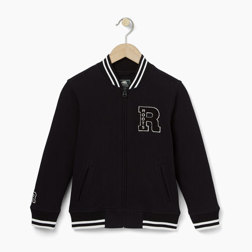 Roots-Kids Sweats-Boys Alumni Awards Jacket-Black-A