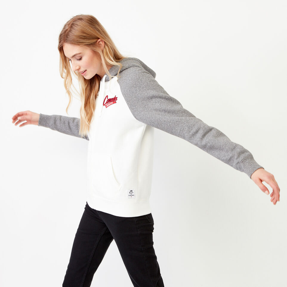 Roots-Women Our Favourite New Arrivals-Canada Full Zip Hoody-Cloudy White-E