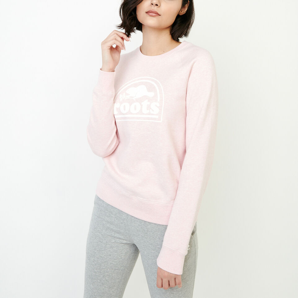 Roots-Women New Arrivals-Vault Relaxed Crew Sweatshirt-English Rose Mix-A