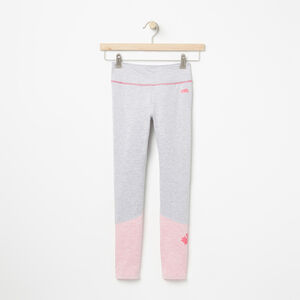 Roots-Kids Bottoms-Girls Roots Active Colourblocked Legging-White Grey Mix-A