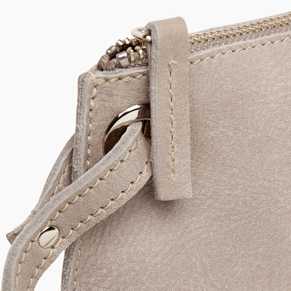 Roots-Leather  Handcrafted By Us Handbags-Festival Bag-Sterling Grey-F