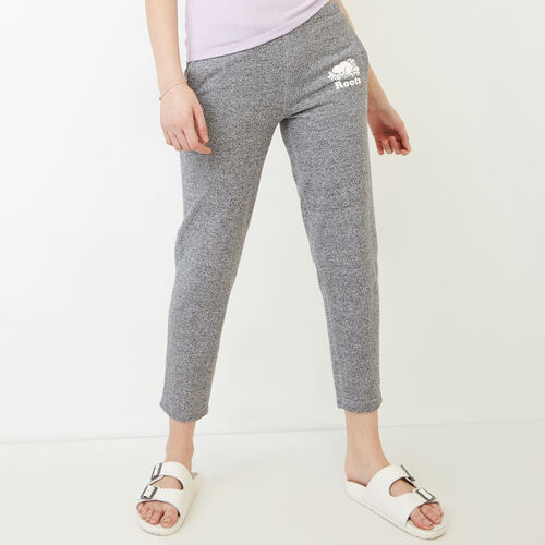 Roots-Women Sweatpants-Easy Ankle French Terry Sweatpant-Salt & Pepper-A
