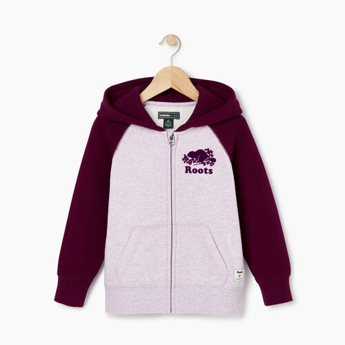Roots-Sale Kids-Toddler Original Full Zip Hoody-Lupine Mix-A