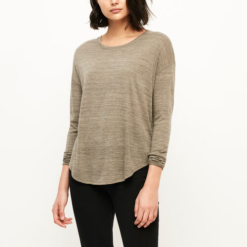 Roots-Black Friday Deals Tops-Hazen Top-Dk Oatmeal Mix-A