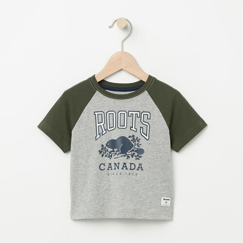 Roots-Kids Baby-Baby Glow In The Dark Raglan Top-Grey Mix-A