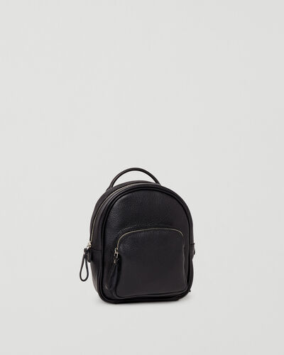 Roots-Leather Backpacks-Mini Chelsea Pack Cervino-Black-A