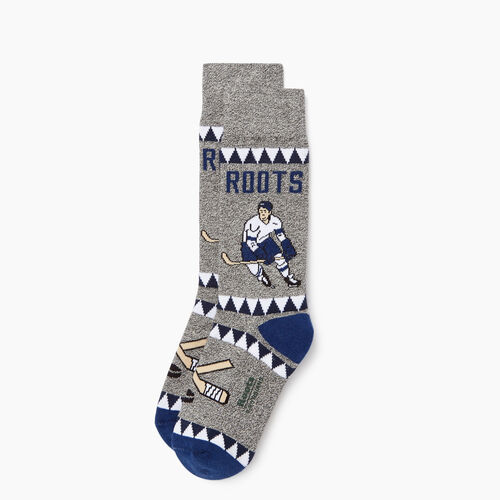 Roots-Kids Accessories-Kids Canadiana Boot Sock-Blue Depths-A