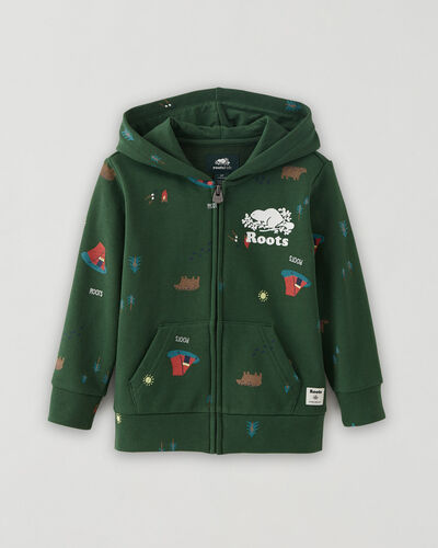 Roots-Sweats Toddler Boys-Toddler Camp Print Full Zip Hoodie-Camp Green-A