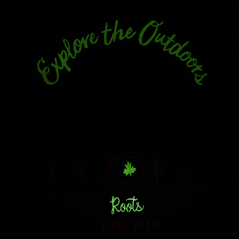 Roots-Kids Our Favourite New Arrivals-Girls Glow-in-the-dark T-shirt-Eclipse-E
