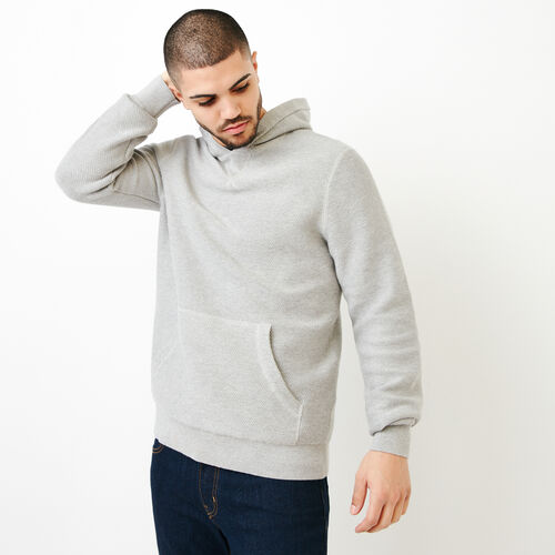 Roots-Men Sweaters & Cardigans-Maple Sweater Hoody-Grey Mix-A