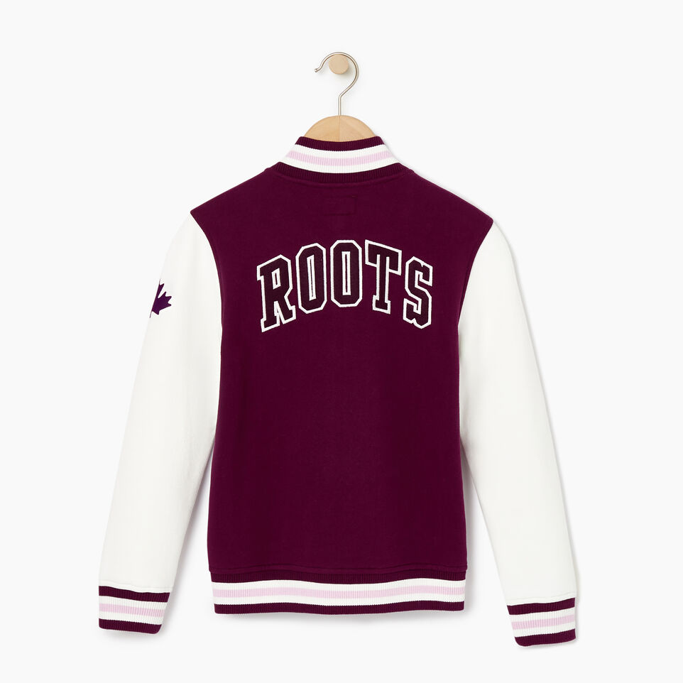 Roots-Kids Our Favourite New Arrivals-Girls 2.0 Awards Jacket-Pickled Beet-B