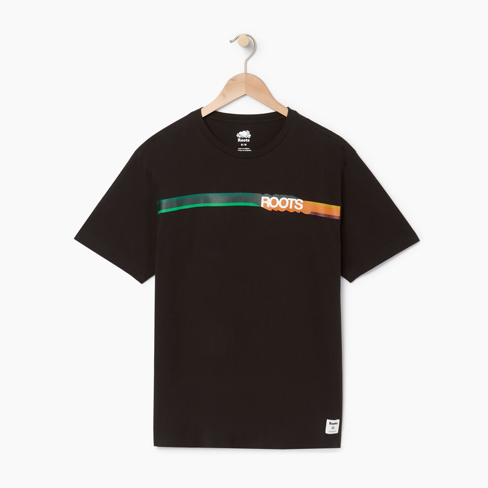 Roots-undefined-Mens Border Colours T-shirt-undefined-A