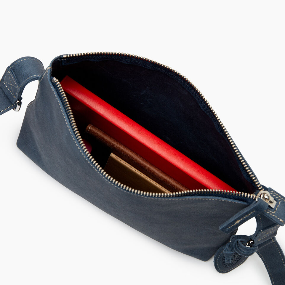 Roots-Leather New Arrivals-Journey Crossbody Tribe-Navy-D