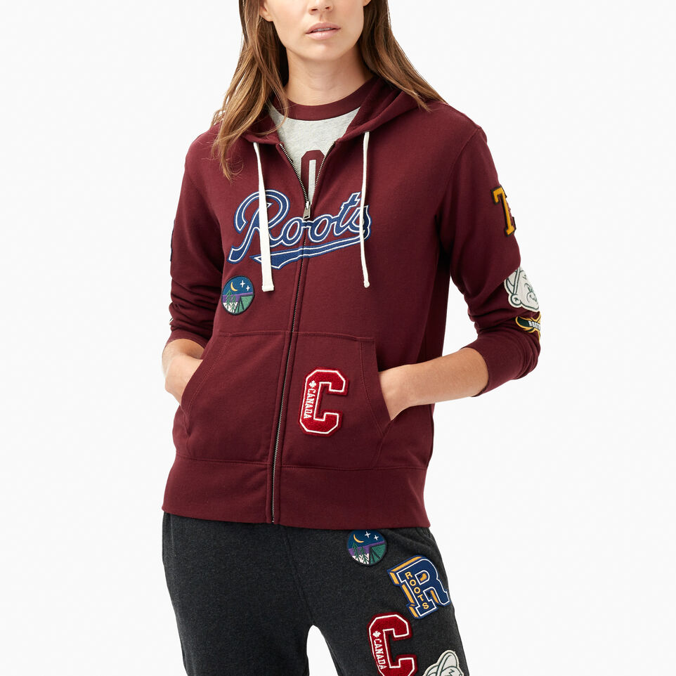 Roots-undefined-Varsity Patches Full Zip Hoody-undefined-A