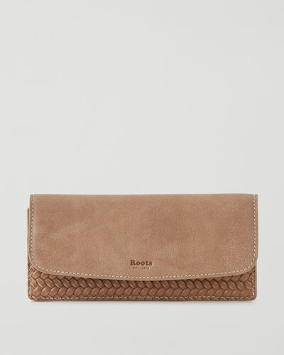 Roots-Leather Wallets-Liberty Wallet Woven-Sand-A