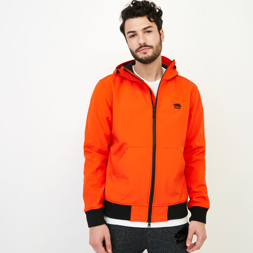 Roots-Men Our Favourite New Arrivals-Glacier Softshell Jacket-Spicy Orange-A