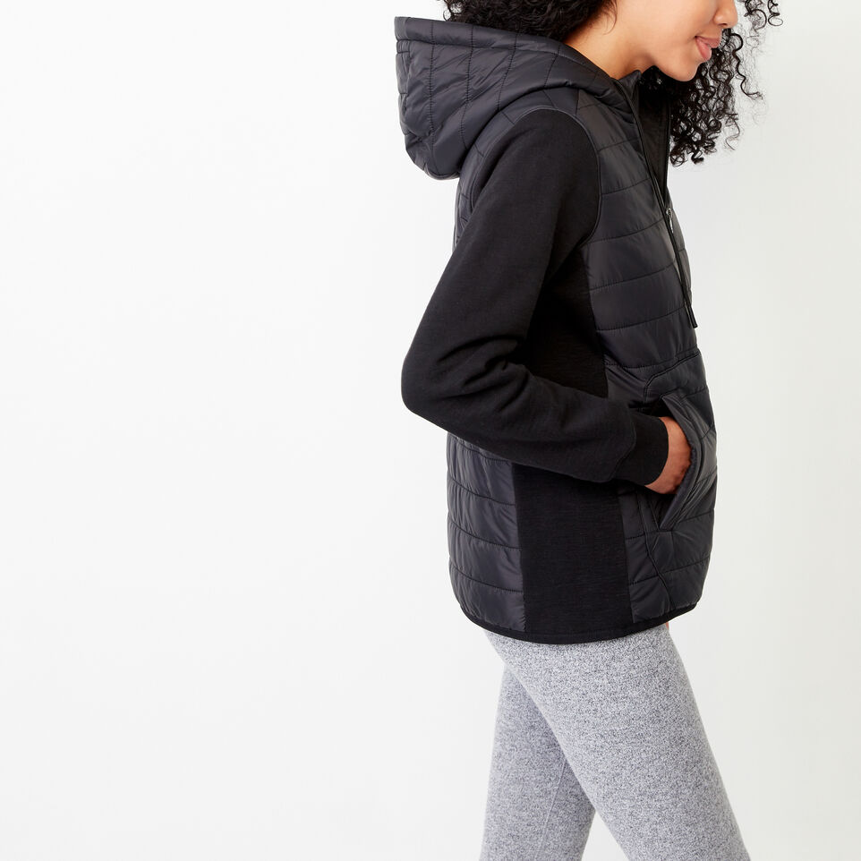 Roots-New For March Daily Offer-Roots Hybrid Hoody Jacket-Black-C