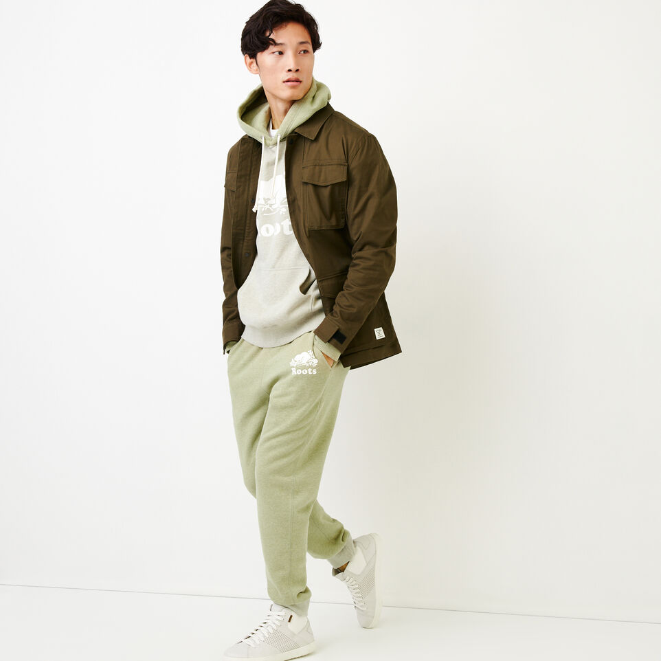Roots-Men Our Favourite New Arrivals-Cooper Kanga Hoody-Spray Green Mix-B