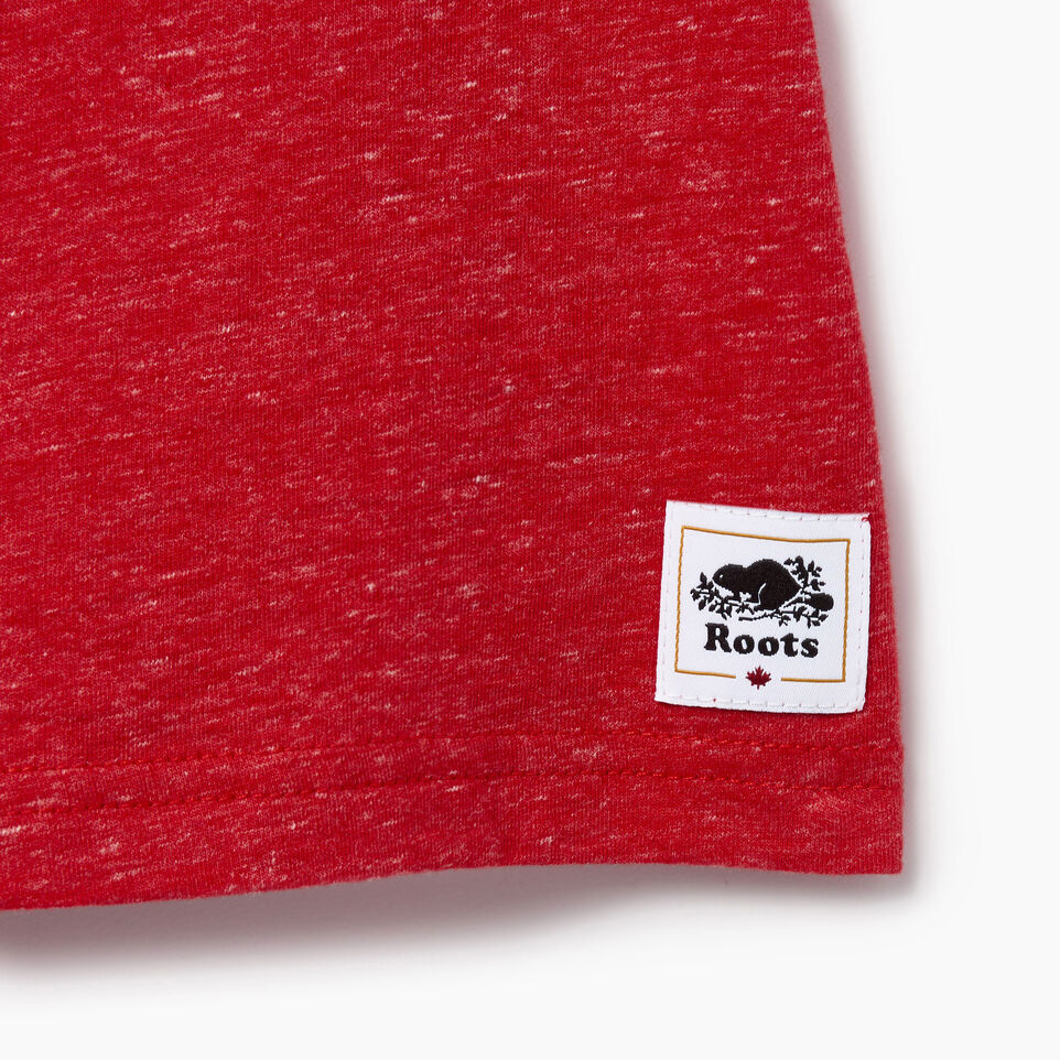 Roots-Kids Our Favourite New Arrivals-Toddler Canada Cabin Ringer T-shirt-Sage Red Mix-C