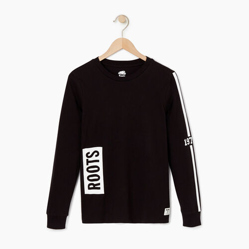 Roots-Women Our Favourite New Arrivals-Womens 1973 Long Sleeve T-shirt-Black-A