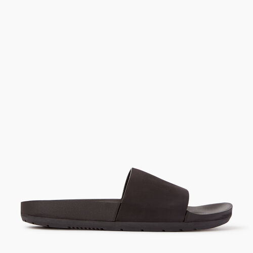 Roots-Women Sandals-Womens Long Beach Pool Slide-Black-A