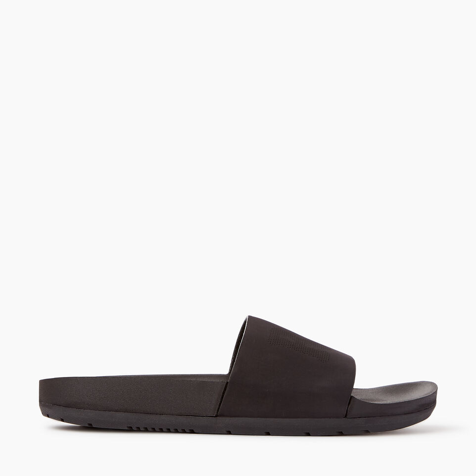 Roots-Women Footwear-Womens Long Beach Pool Slide-Black-A