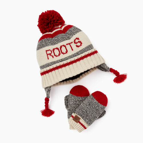 Roots-Kids Toddler Girls-Toddler Cabin Gift Set-Grey Oat Mix-A