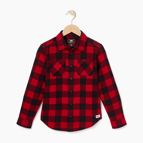 Roots-Winter Sale Boys-Boys Park Plaid Shirt-Lodge Red-A