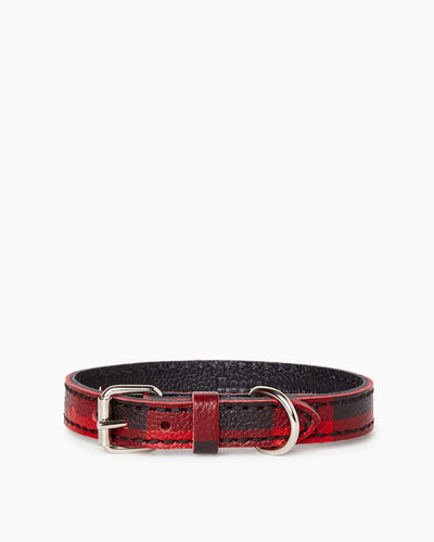 Roots-New For March Dog Accessories-Extra Small Leather Dog Collar-Cabin Red-A