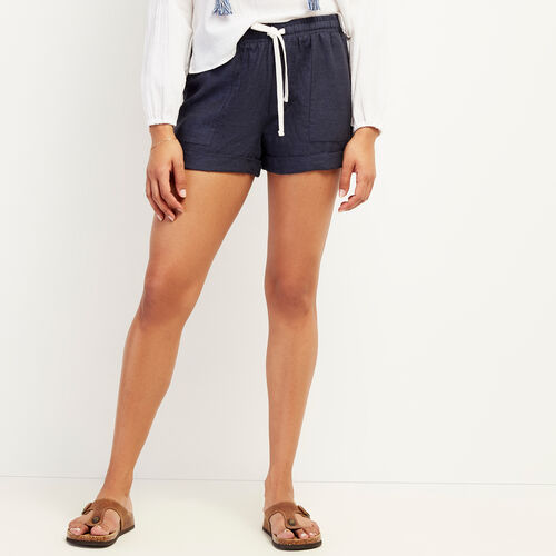 Roots-Women Clothing-Sadie Short-Indigo-A