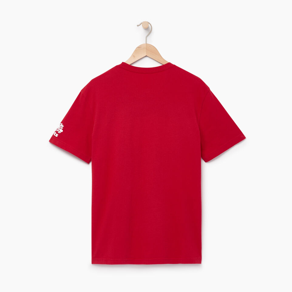 Roots-Men Our Favourite New Arrivals-Mens Blazon T-shirt-Sage Red-B