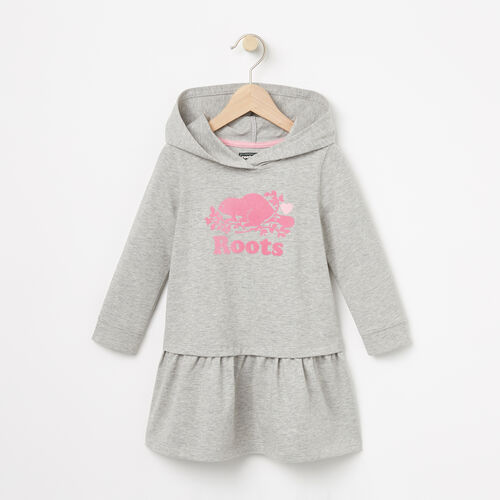 Roots-Kids Dresses-Toddler Morgan Hooded Dress-Grey Mix-A
