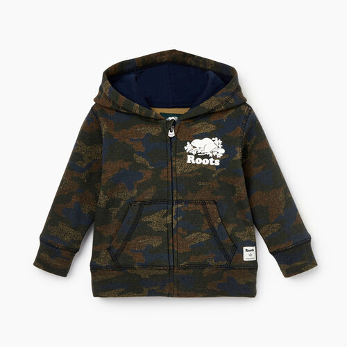 Roots-Kids Our Favourite New Arrivals-Baby Original Full Zip Hoody-Camo Print-A