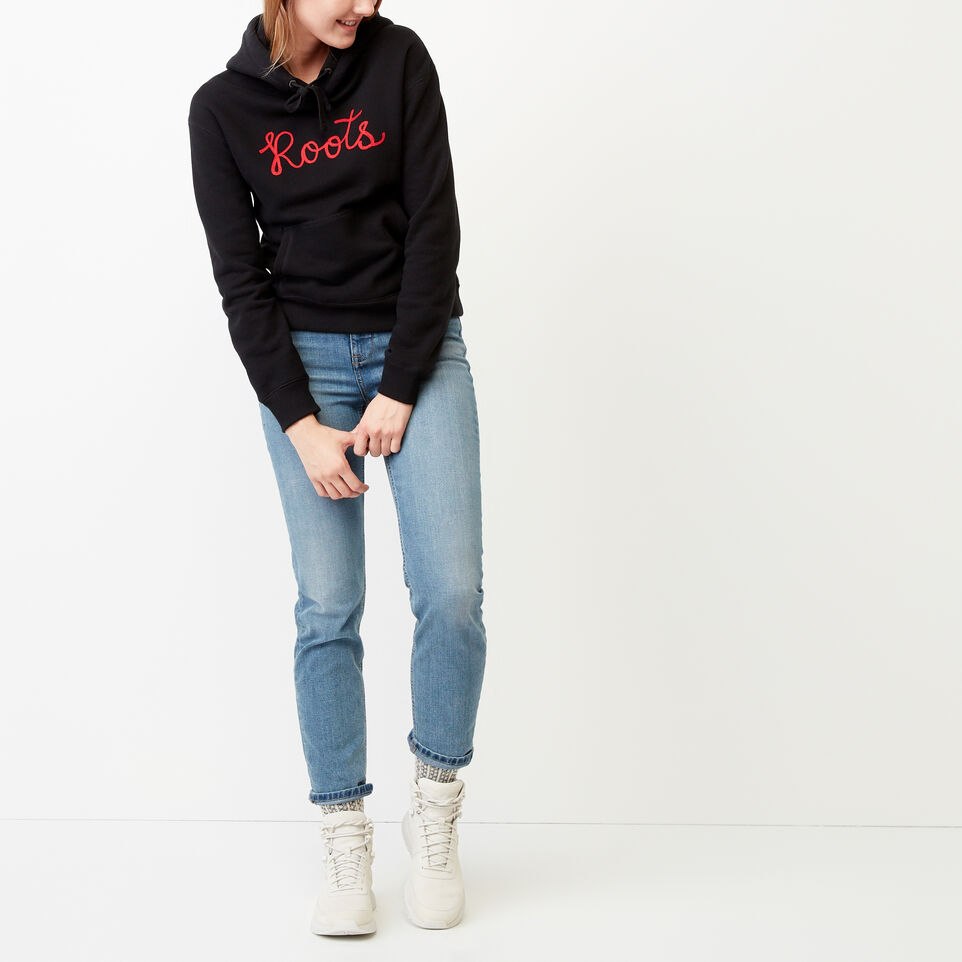 Roots-Clearance Women-Mabou Hoody-Black-B