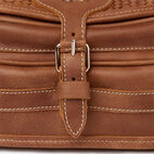 Roots-Women Leather-English Saddle Woven-Natural-E