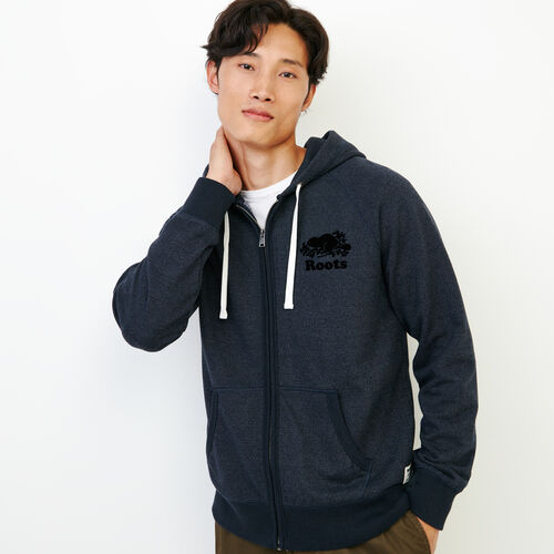 Roots-Men Our Favourite New Arrivals-Original Full Zip Hoody-Navy Blazer Pepper-A