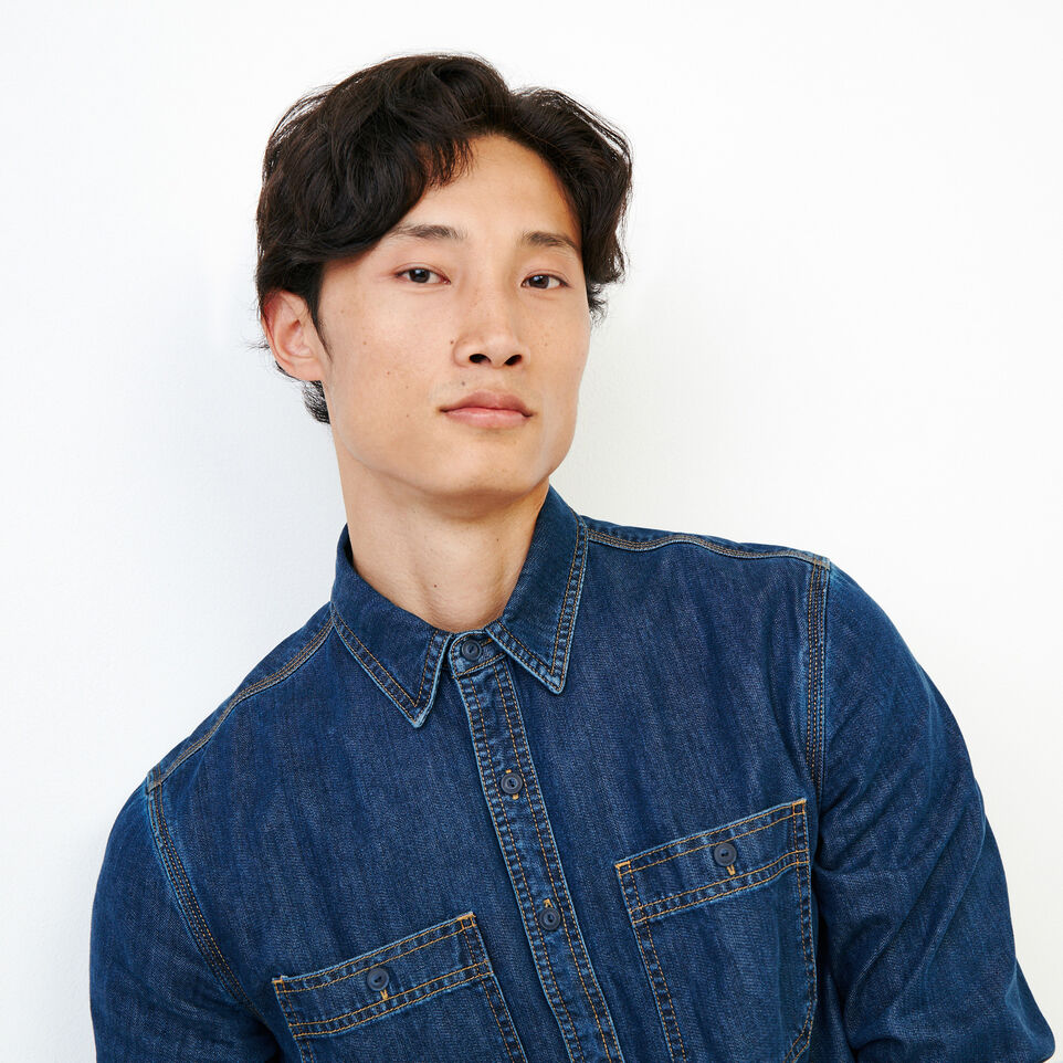 Roots-Men Our Favourite New Arrivals-Denim Work Shirt-Vintage Wash-E