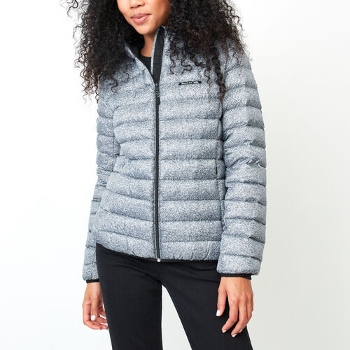 Roots-Women Jackets-Roots Packable Down Jacket-Salt & Pepper-A