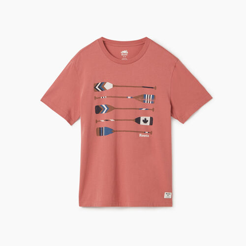Roots-Men New Arrivals-Mens Roots Rowing Club T-shirt-Light Mahogany-A