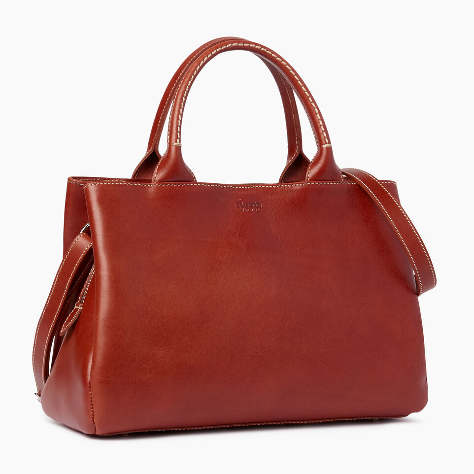 Roots-Leather  Handcrafted By Us Our Favourite New Arrivals-Mont Royal Bag Horween-Cognac-C