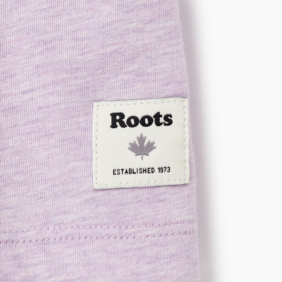 Roots-Women Clothing-Womens Classic Roots Canada T-shirt-Lupine Mix-C