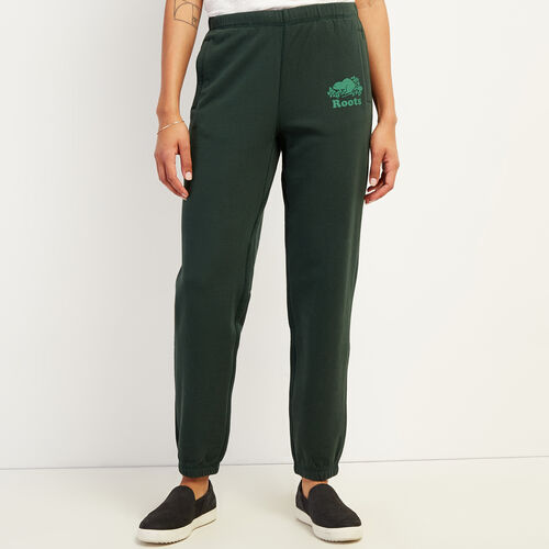 Roots-Women New Arrivals-Kawartha Original Sweatpant-Park Green-A