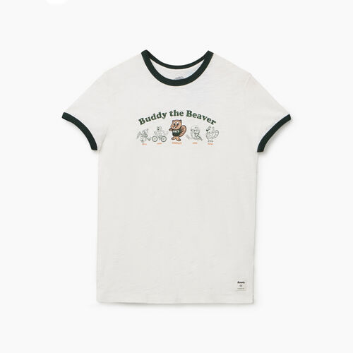 Roots-Women New Arrivals-Womens Minden T-shirt-Ivory-A